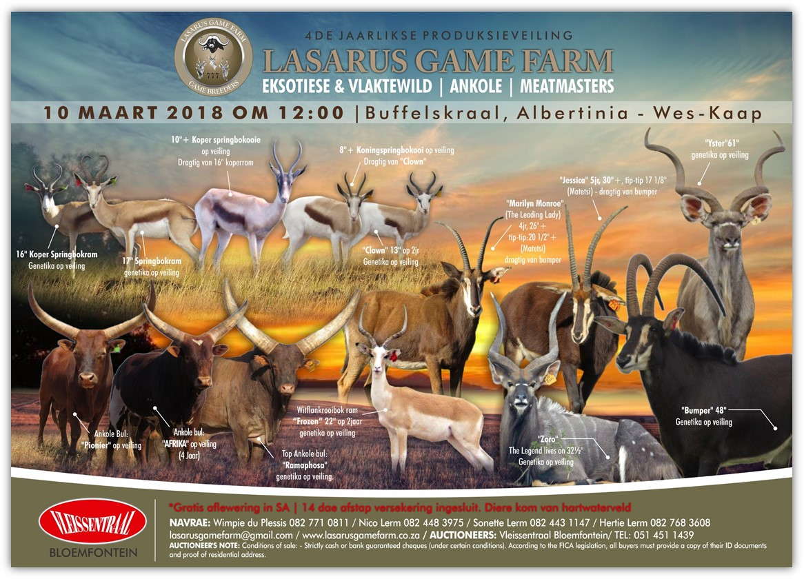 Lasarus Game Farm Auction